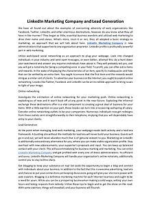LinkedIn Marketing Company | Lead Generation Services
