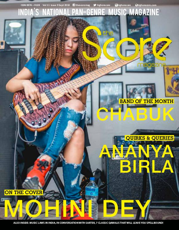 The Score Magazine Sept 2018