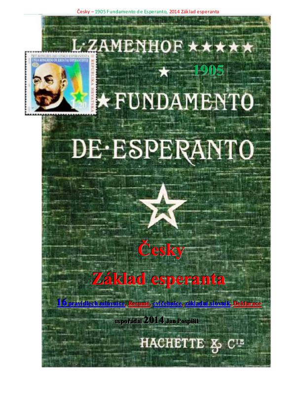 Fundamento de Esperanto česky 1