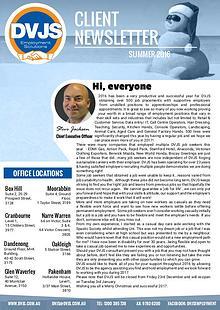 DVJS Client Newsletter