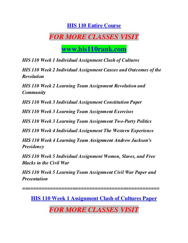 hist 110 clash of cultures In the modern world, is it possible to protect an indigenous culture from  population growth and economic expansion this 1995 news report explains  that, as.
