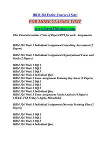 HRM 326 TUTOR Education Terms/hrm326tutor.com
