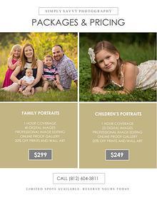 Simply Savvy Session Pricing