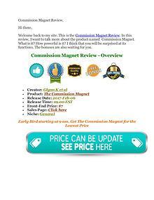 Commission Magnet Review - Honest Review - MEGA Bonus