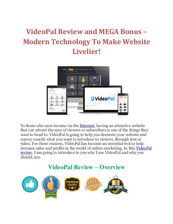 VideoPal Review and MEGA Bonus – Modern Technology To Make Website Li joomag