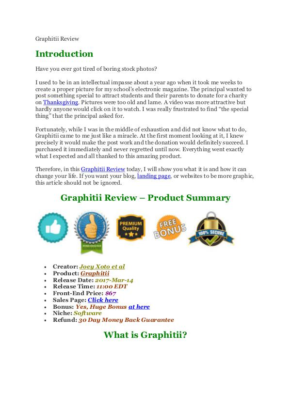 Graphitii Review and MEGA Bonus - It's Scam Or Work?