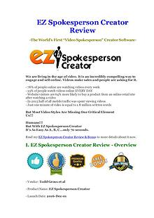 Best EZ Spokesperson Creator Review $ Bonus