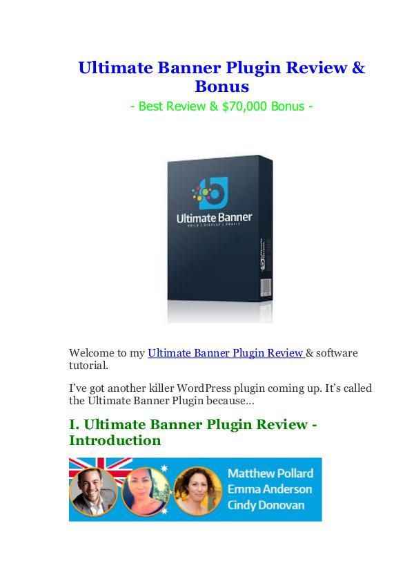 Ultimate Banner Plugin Review & Bonus 50% Discount
