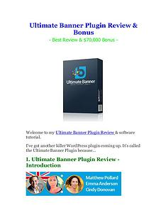 Ultimate Banner Plugin Review & Bonus