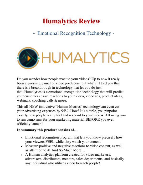 Best Humalytics Review & Bonus - Why Should You Buy It?