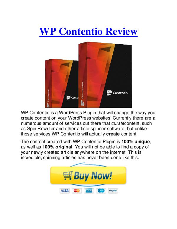 [Best] WP Contentio Bonus & Review - Why Should You Buy It - %50 Discount