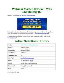 Webinar Master Review and $70,000 Bonus - 50% Discount