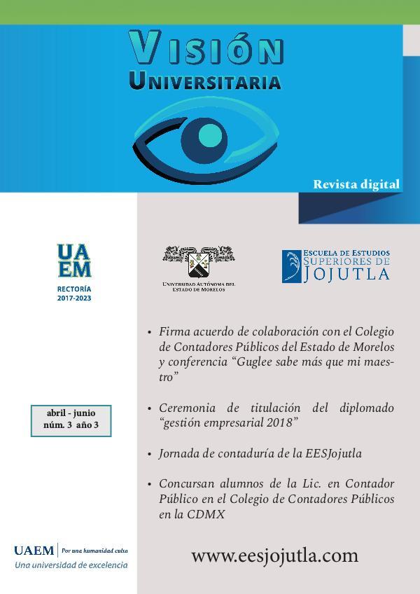 Revista Visión Universitaria - EESJojutla Núm. 3 / Año 3