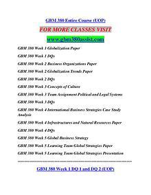 GBM 380 ASSIST Career Path Begins/gbm380assist.com