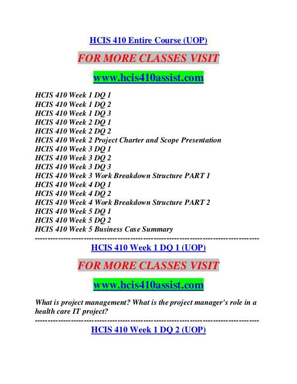 HCIS 410 ASSIST Career Path Begins/hcis410assist.com HCIS 410 ASSIST Career Path Begins/hcis410assist.c