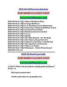 HSM 410 MENTOR Education Terms/hsm410mentor.com