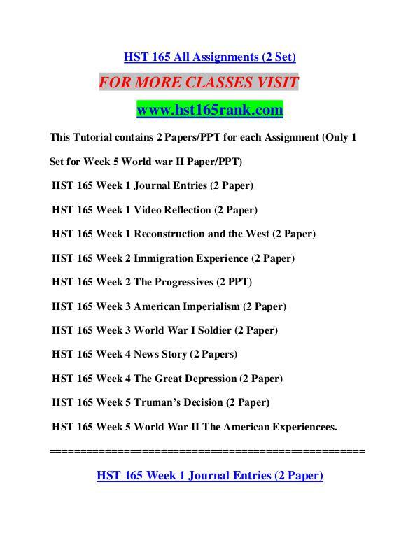 HST 165 RANK Education Terms/hst165rank.com HST 165 RANK Education Terms/hst165rank.com