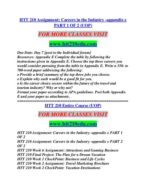 HTT 210 EDU Education Terms/htt210edu.com HTT 210 EDU Education Terms/htt210edu.com