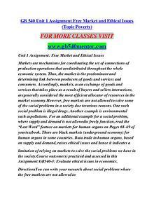GB 540 MENTOR Career Path Begins/gb540mentor.com