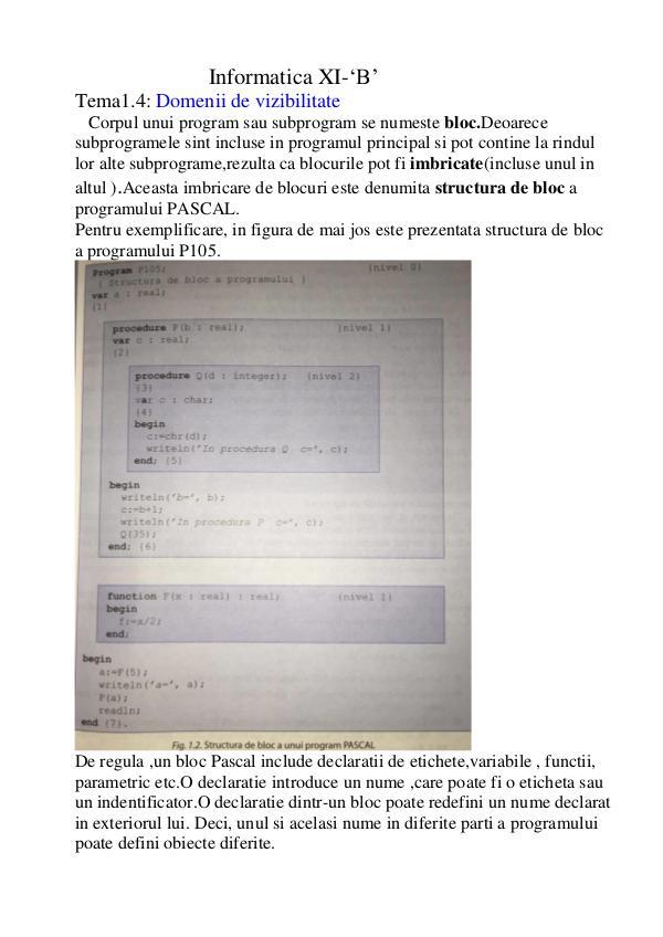 Informatica XI_B Clasa XI-B