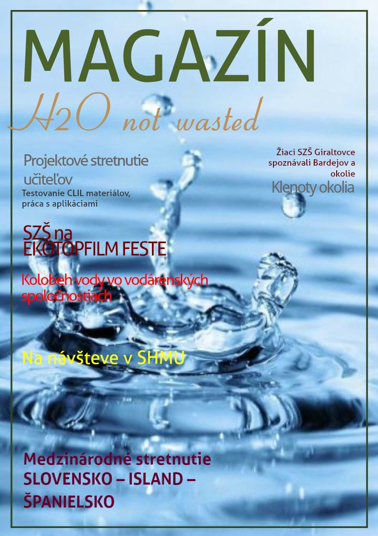 Projekt H2O not wasted na SZŠ v Giraltovciach 2