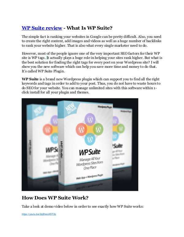 WP Suite review - WP Suite +100 bonus items