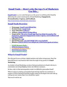 marketing Email Tools review- Email Tools $27,300 bonus & discount
