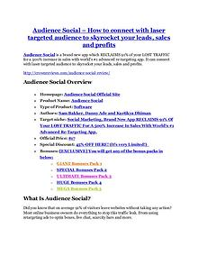marketing Audience Social Review and GIANT $12700 Bonus-80% Discount