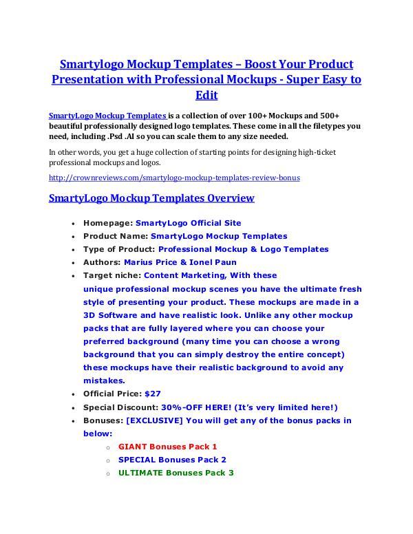 marketing Smartylogo Mockup Templates Review - Smartylogo Mockup Templates DEMO & BONUS