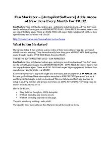 Fan Marketer Review and (Free) GIANT $14,600 BONUS