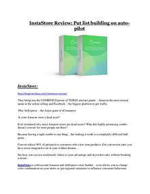 InstaStore review & SECRETS bonus of InstaStore