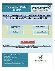 Optical Coatings Market: Technologies, Product Segments High Growth