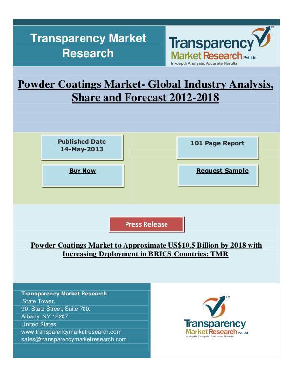 Powder Coatings Market Forecast 2012 - 2018
