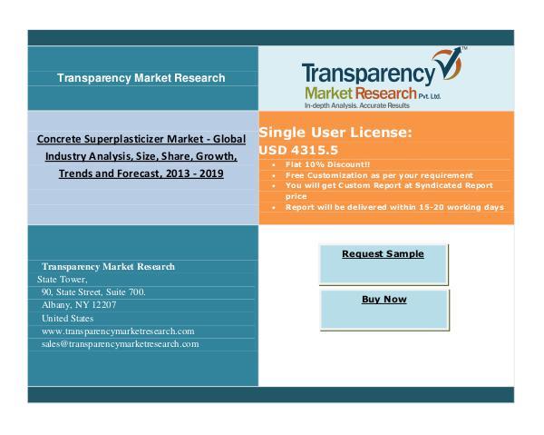 Concrete Superplasticizer Market 2013 – 2019