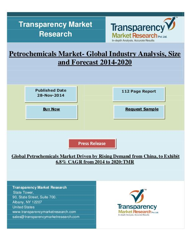 Petrochemicals Market 2014 - 2020