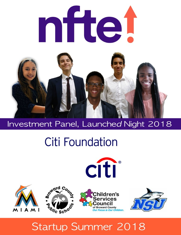 NFTE SUS Investment Panel NFTE Florida 2018 Investment Panel