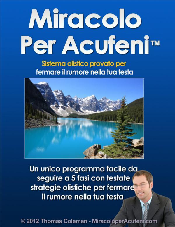 ⓁⒾⒷⓇⒾⓊⓃⓄ Thomas Coleman: Miracolo Per Acufeni Libro PDF
