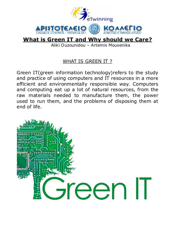 What is Green IT and why should we care? aliki_artemis_greenit_ebook