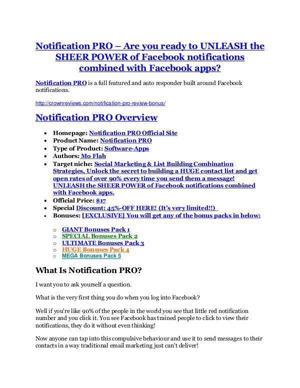 marketing Notification PRO review-SECRETS of Notification PRO and $16800 BONUS