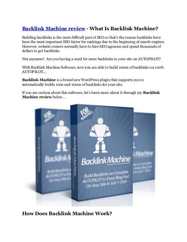 marketing Backlink Machine review demo and premium bonus
