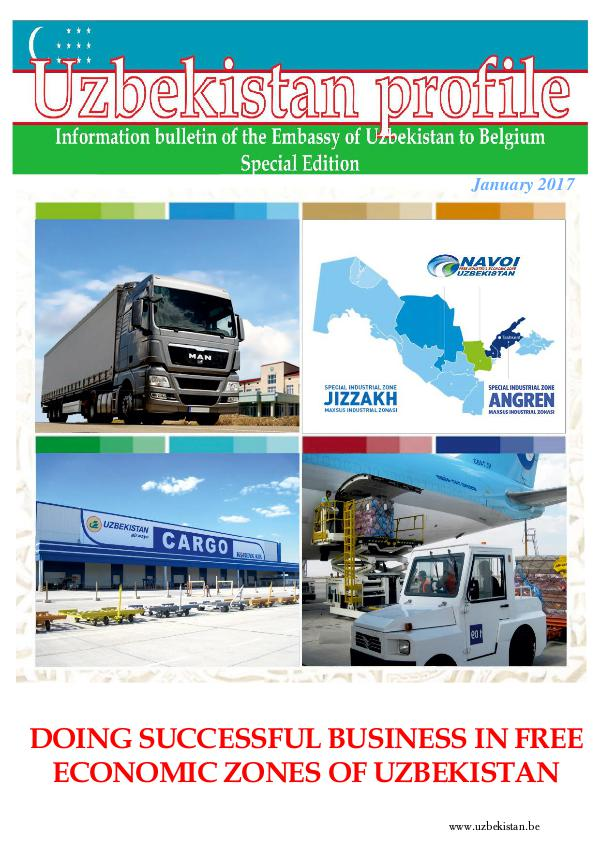 DOING SUCCESSFUL BUSINESS IN FREE ECONOMIC ZONES OF UZBEKISTAN DOING SUCCESSFUL BUSINESS IN FREE ECONOMIC ZONES