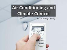 Air Conditioning and Climate Control
