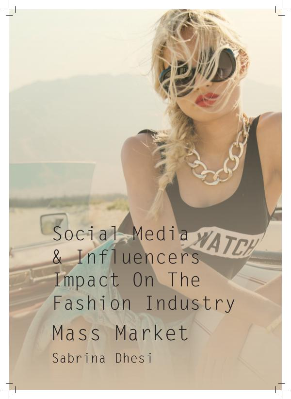 Public Influences On The Fashion Industry