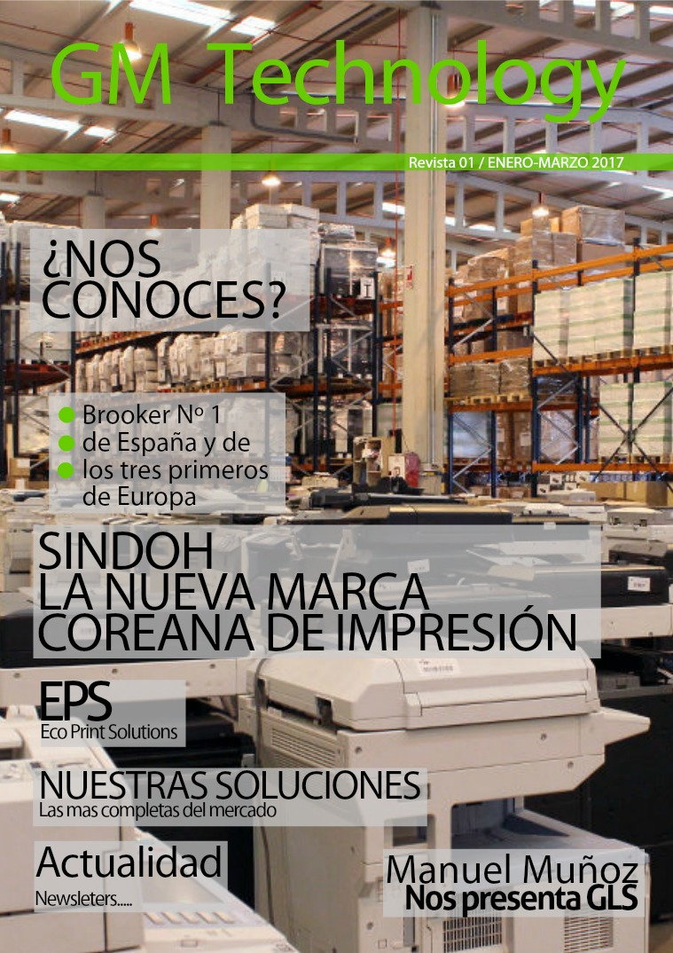 Revista Enero Marzo 2017 GM Technology 1 Enero Marzo GM Technology