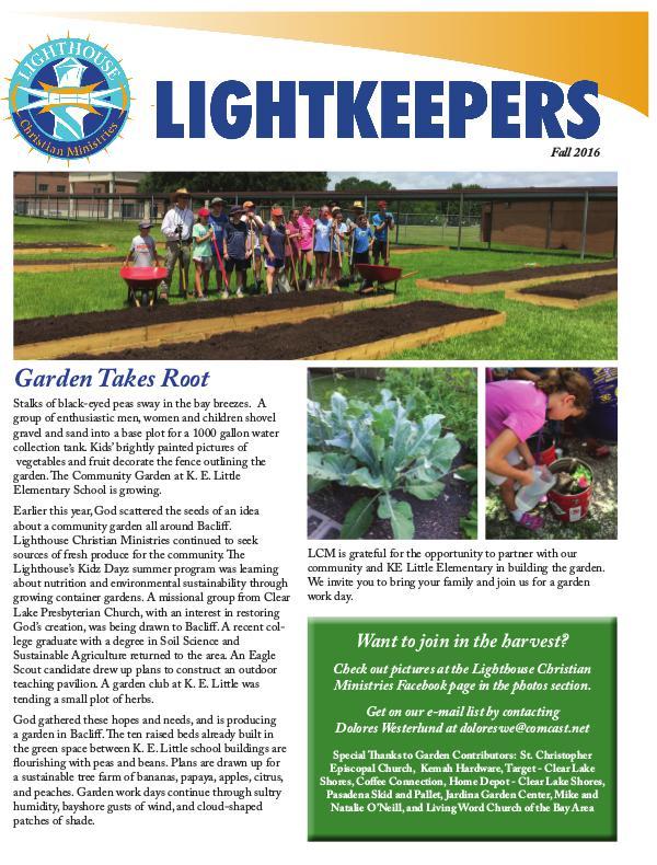 Fall Newsletter 1