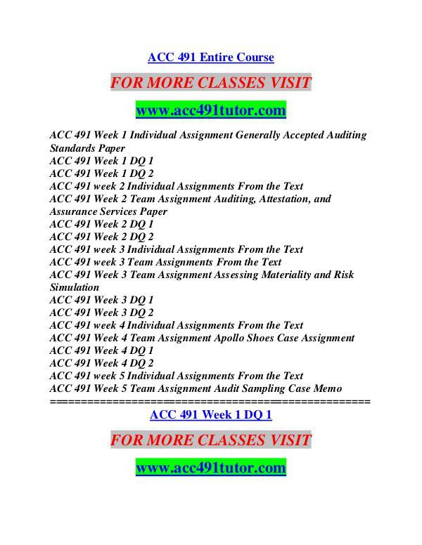 ACC 491 TUTOR Education  Terms/acc491tutor.com ACC 491 TUTOR Education  Terms/acc491tutor.com