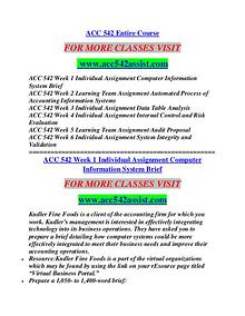 ACC 542 ASSIST Education  Terms/acc542assist.com
