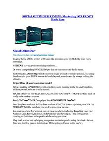 marketing Social Opimizer review and MEGA $38,000 Bonus - 80% Discount