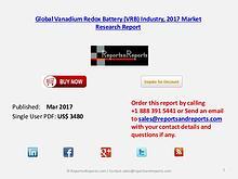 Global Forecasts on Vanadium Redox Battery (VRB) Market 2022