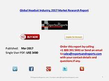 Global Forecasts on Headset Market Analysis to 2022